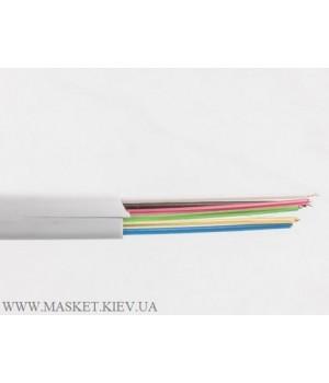 Телефонный кабель 6-жильный, белый