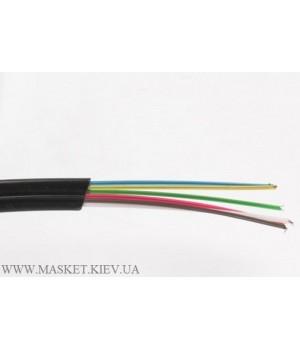 Телефонный кабель 6-жильный, чёрный