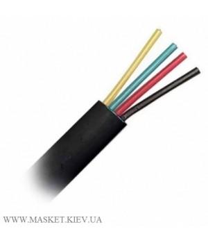 Телефонный кабель 4-жильный, чёрный