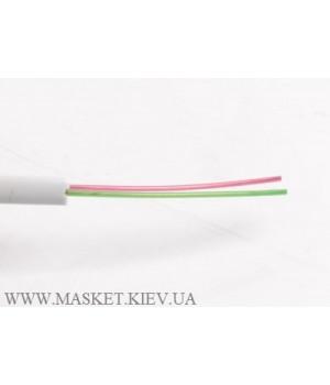 Телефонный кабель 2-жильный, белый