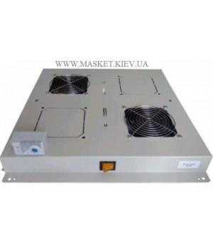 Блок 2 вентиляторов с термостатом, для напольных шкафов