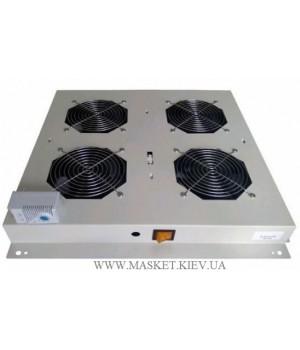 Блок вентиляторов 4 вентилятора с термостатом, для напольных шкафов