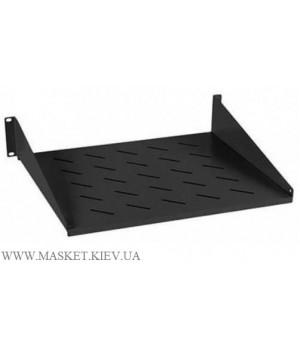 Полка консольная для шкафа глубина 400 мм 2U. Чёрная