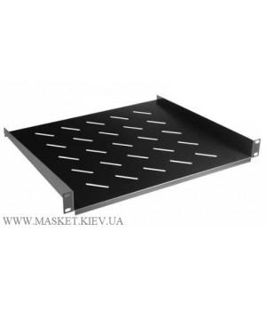 Полка консольная для шкафа глубина 400 мм 1U. Чёрная