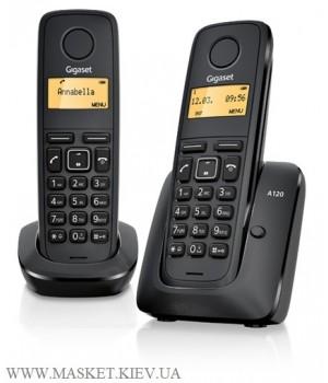 Gigaset A120 DUO Black - радиотелефон DECT