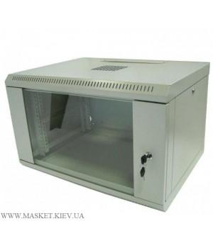 Шкаф настенный 6U 600x450 разборной, серый