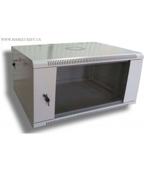Шкаф настенный 4U 600x300 разборной, серый