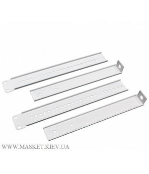 Комплект фиксаторов однорамной стойки к стене, серый