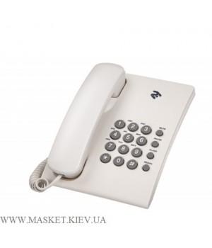 2E AP-210 Beige White – проводной телефон