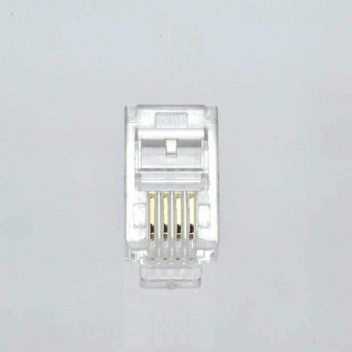 Коннектор телефонный RJ11 (4p4c)