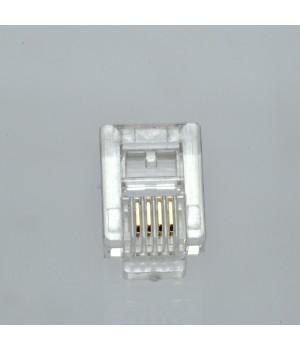 Коннектор телефонный RJ12, 6p4c упаковка 100 штук