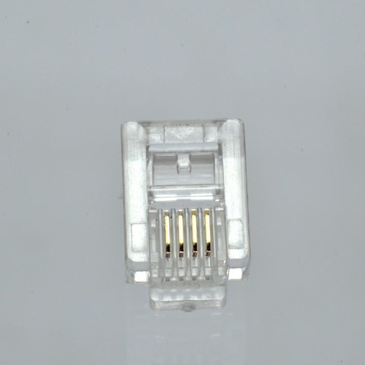 Конектор телефонний RJ12, 6p4c