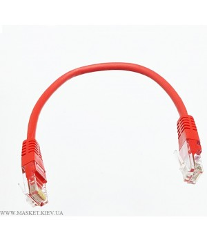 Патч-корд литой 0,5м UTP RJ45 кат 5Е, красный