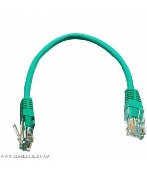 Патч-корд литой 0,5м UTP RJ45 кат 5Е, зелёный